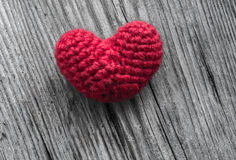 Red Heart Shaped Silk Stock Images
