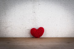 Red Heart Shaped Silk Stock Photo