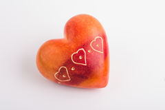 Red heart shaped stone Stock Image