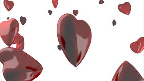Red heart shaped valentine's day symbol stock video footage