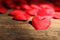 Red heart shaped valentines Stock Photos