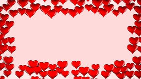 Red Heart shapes frame Royalty Free Stock Photography