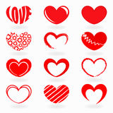 Red heart shapes Stock Image