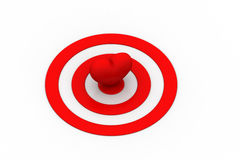 Red Heart  sign on the target sign Royalty Free Stock Photo