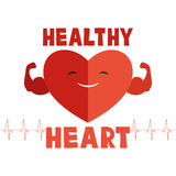 Red heart sign. Stock Photo