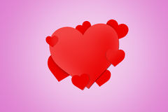 Red Heart Signs Royalty Free Stock Photography