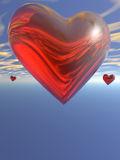 Red heart in the sky Stock Photo