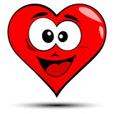 Red heart with smile illustration Royalty Free Stock Photography