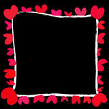 Red heart with space for text  on black background Royalty Free Stock Photos