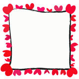 Red heart with space for text  on white background Stock Images