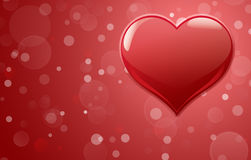 Red heart with sparkles Royalty Free Stock Photography