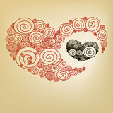 Red heart spiral Royalty Free Stock Photos