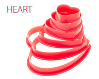 Red heart stack Stock Images