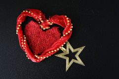 Red heart and star Royalty Free Stock Photography