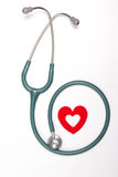 Red heart and a stethoscope Stock Image