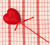 Red heart on a stick Royalty Free Stock Image