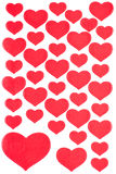Red Heart Stickers Background Royalty Free Stock Image