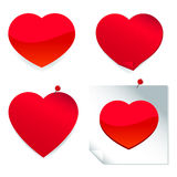 Red heart stickers Stock Photos