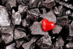 Red heart and stones Royalty Free Stock Photography