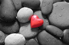 Red Heart and stones Stock Image
