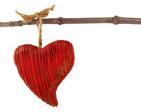Red heart on a string Royalty Free Stock Images