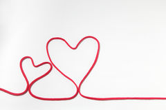 Red heart string Royalty Free Stock Images