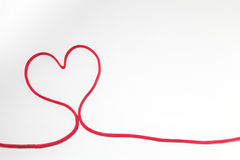 Red heart string stock illustration. Image of string ...