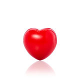 Red heart. Studio shot isolated on white Stock Photography