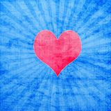 Red heart with sunburst Royalty Free Stock Photos