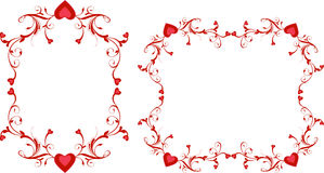 Red heart swirls Royalty Free Stock Images