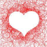 Red heart symbol Stock Photos
