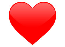 Red heart. Symbol for designs Royalty Free Stock Photography