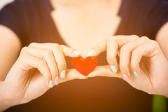 Red heart symbol Stock Photography