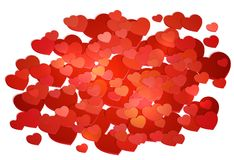 Red Heart Symbol for Greeting Card Happy Valentine s Day Stock Photo