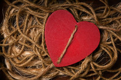 Red heart - symbol of love. royalty free stock photography