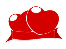 Red heart and tags Stock Images