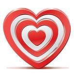 Red heart target aim Stock Photos