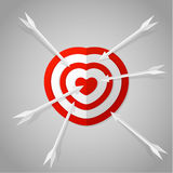 Red heart target Royalty Free Stock Image