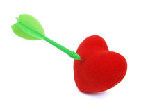 Red heart target Stock Images