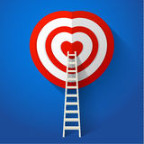 Red heart target Stock Photos