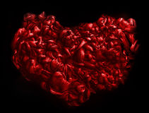 Red heart . texture of acrylic ink. Abstract background. Royalty Free Stock Image