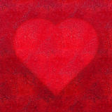 Red Heart textured background Stock Photo