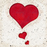 Red Heart textured background Stock Images