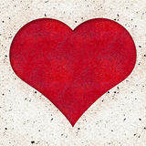 Red Heart textured background Stock Image