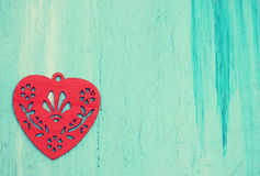 Red heart, tinted Royalty Free Stock Photos
