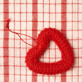 Red heart toy frame Royalty Free Stock Images