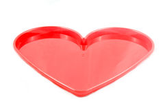Red heart tray Stock Image