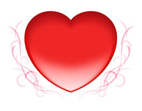 Red heart Valentine. Red heart icon for valentine's day Royalty Free Stock Photos