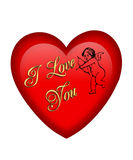 Red Heart Valentine Royalty Free Stock Photos