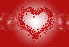 Red heart valentine background Royalty Free Stock Photo